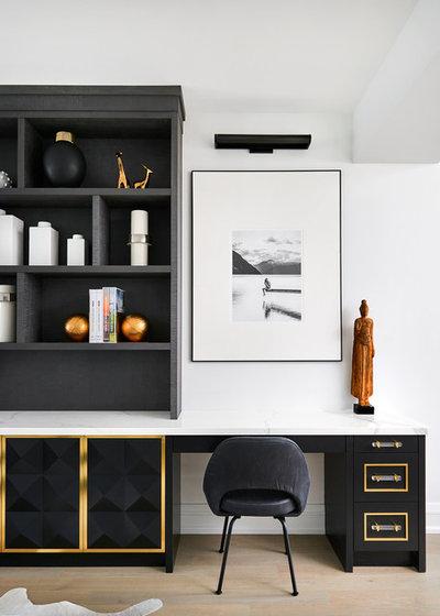 Classique Chic Bureau à domicile Transitional Home Office