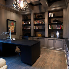 Transitional Home Office by Dochia Interior Design