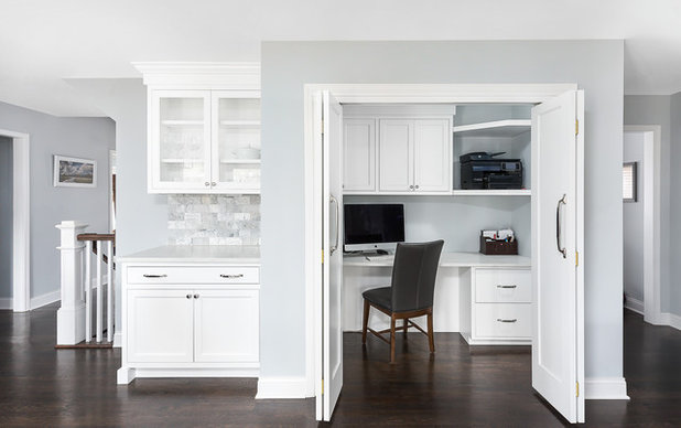 Transitional Home Office by Redstart Construction, Inc.