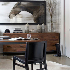Transitional Home Office by Leo Designs, LTD