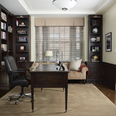 Traditional Home Office by Kathleen Walsh Interiors, LLC