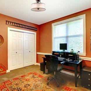 Bureau Avec Un Mur Orange Photos Et Idées Déco De Bureaux