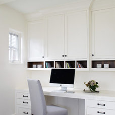 Transitional Home Office by Tiburon Homes LLC