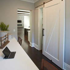 Transitional Closet by Fautt Homes