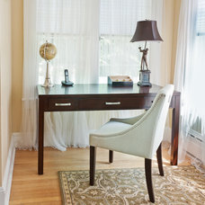 Traditional Home Office by Debra Lipset Designs