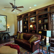Transitional Home Office by The Design Firm