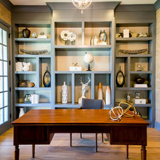 Transitional Home Office by Savvy Interior Design