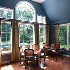 Traditional Home Office by Allure Window Treatments
