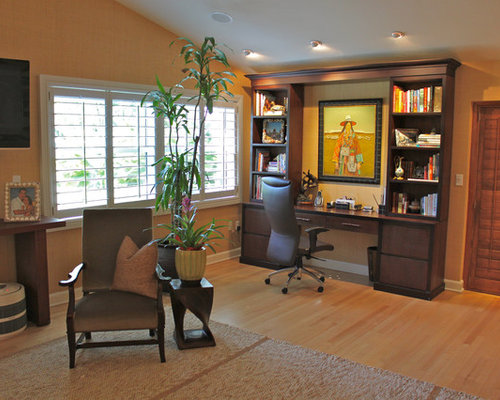 tropical home office design ideas remodels photos 19180 | 43c1f8fc0eb8772f 3651 w500 h400 b0 p0 tropical home office