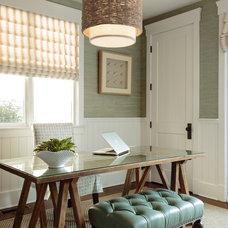 Contemporary Home Office by Caroline Burke Designs & Associates, Inc.