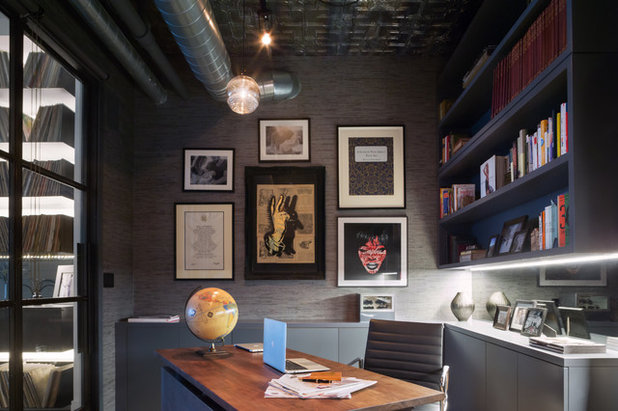 Industrial Home Office by Melanie Williams Bespoke Interiors