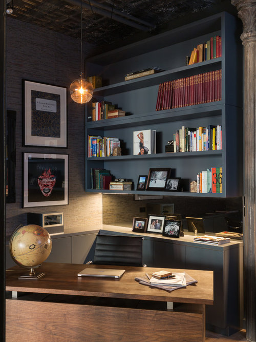 Industrial Study Room: 30 All-Time Favorite Home Office Ideas & Remodeling Photos