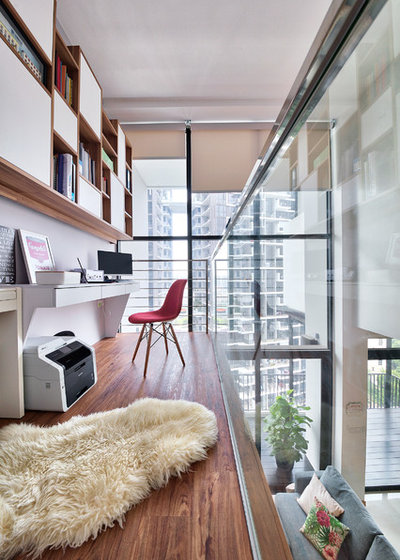 Contemporary Home Office by Free Space Intent
