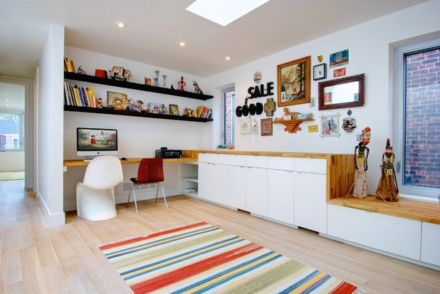 Eclectic Home Office by Andrew Snow Photography