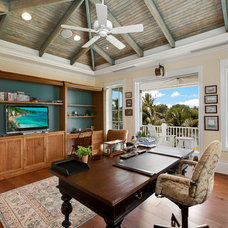 Tropical Home Office by Weber Design Group, Inc.