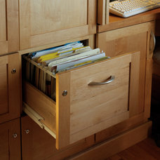Traditional Home Office by Plain & Fancy Custom Cabinetry
