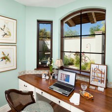Mediterranean Home Office by Robinette Architects, Inc.
