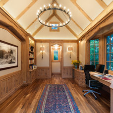 Traditional Home Office by Kirk E. Peterson & Associates