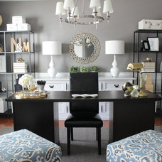 Traditional Home Office Turning a Dining Room into a Home Office