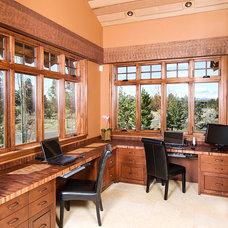 Mediterranean Home Office by Kirsti Wolfe Designs
