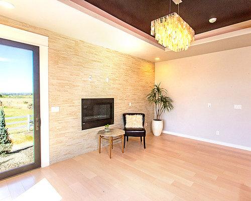 bureau moderne avec un manteau de chemin e en carrelage photos et id es d co de bureaux. Black Bedroom Furniture Sets. Home Design Ideas