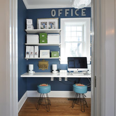 Eclectic Home Office by Anthony James Construction