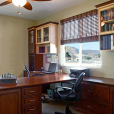 Contemporary Home Office by Tailored Living featuring PremierGarage