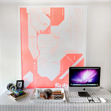 Contemporary Home Office by Landing Design & Development