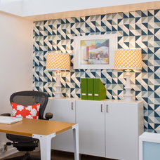 Modern Home Office by Erika Bierman Photography