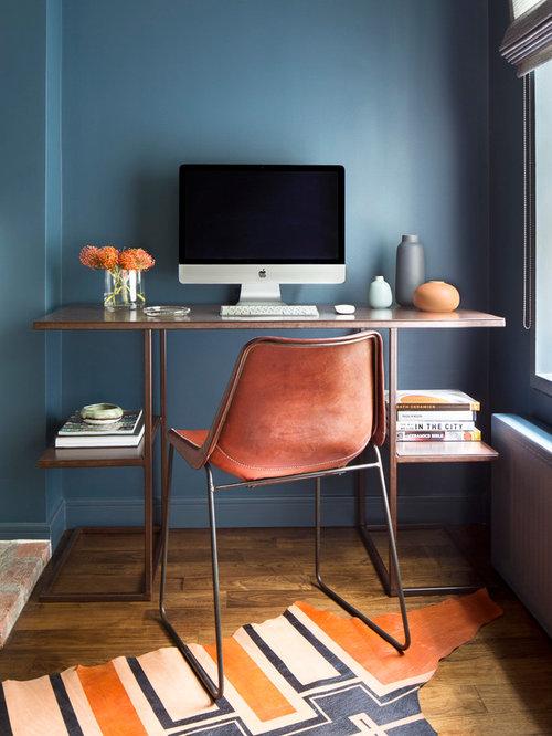 Kleines arbeitszimmer mit blauen w nden ideen f r ihr for Schreibtisch york