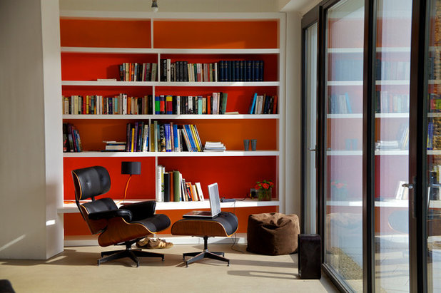 Contemporary Home Office & Library by Seymour-Smith Architects