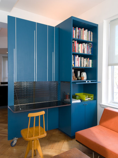 office shelving unit. inspiration for a modern builtin desk medium tone wood floor home office remodel in shelving unit p