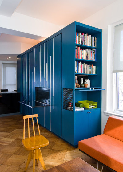 Contemporary Home Office by Michael K Chen Architecture