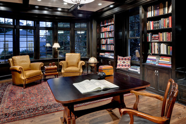 Traditional Home Office by Domiteaux + Baggett Architects, PLLC