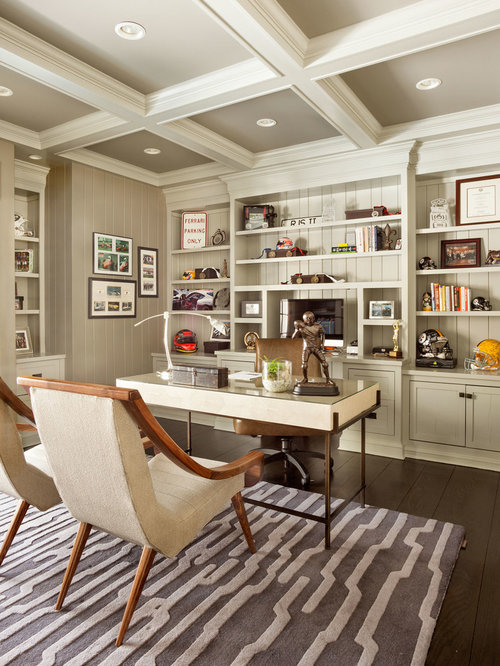 Home office interior design houzz for Office design houzz