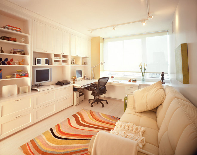 Contemporary Home Office by Celia Berliner Design, LLC