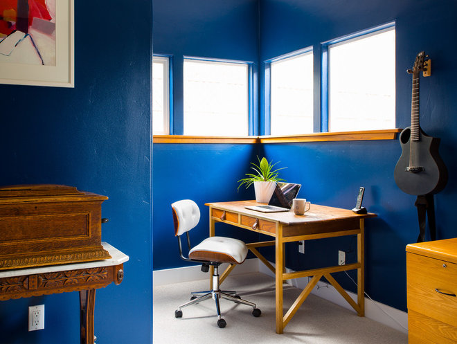 Eclectic Home Office by christie hausmann design