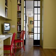 Contemporary Home Office by Rusk Renovations