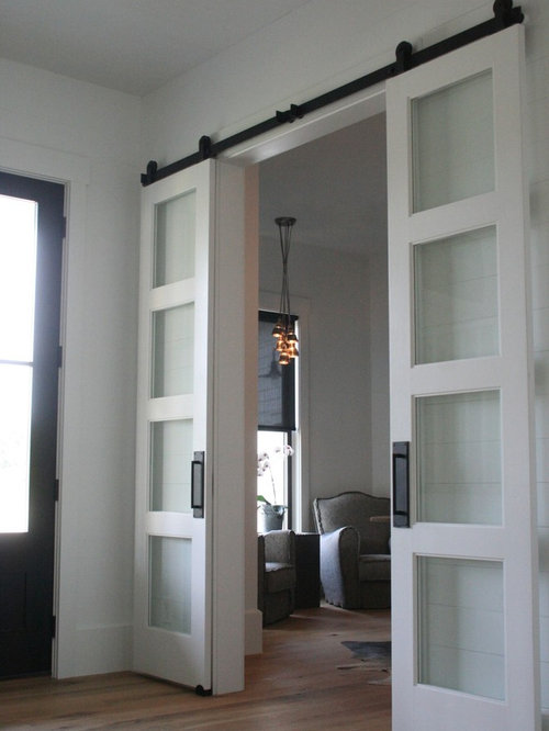 Farmhouse home office idea in Columbus & Sliding Farm Doors | Houzz Pezcame.Com