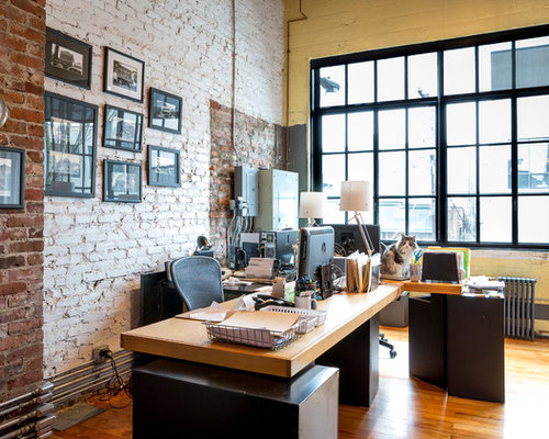 Industrial Seattle Home Office Design Ideas, Remodels & Photos