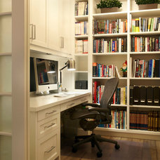 Transitional Home Office by Parkyn Design