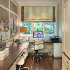 traditional home office by Polsky Perlstein Architects