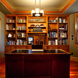 Craftsman Den Home Office Design Ideas Pictures Remodel And Decor