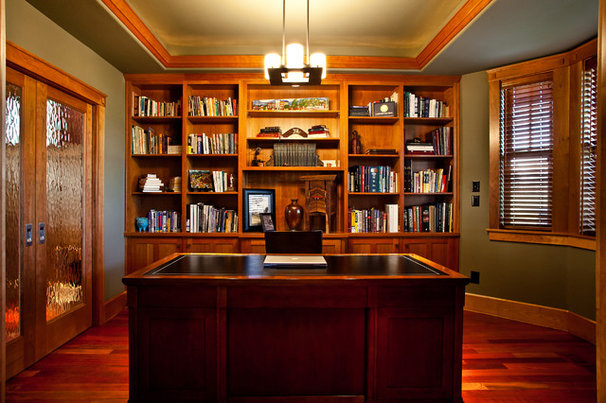 Craftsman Home Office by Fazzolari Custom Homes & Renovations