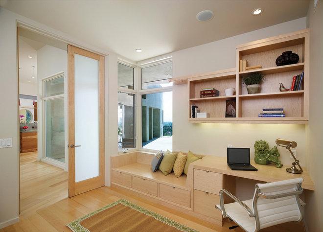 Contemporary Home Office by HartmanBaldwin Design/Build