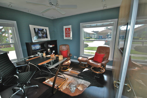 Contemporary Home Office by Vicki Balzer