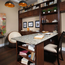 Modern Home Office by Kelley Bridwell