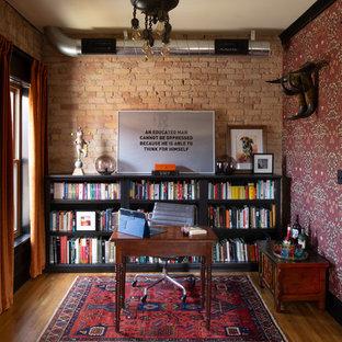 ミネアポリスのヴィクトリアン調のおしゃれなホームオフィス・書斎の写真