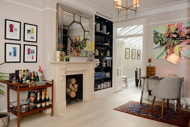 Victorian Home Office & Library by Ruth Noble Interiors