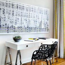 Transitional Home Office by Toronto Interior Design Group | Yanic Simard